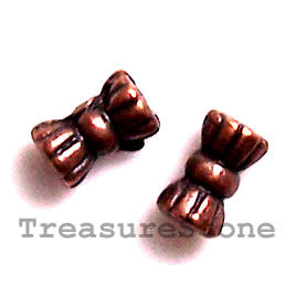 Bead, antiqued copper-finished, 3x6mm. Pkg of 20.